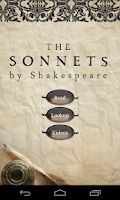 Screenshot of The Sonnets, by Shakespeare