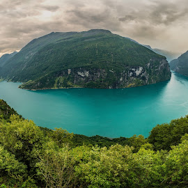 Geiranger Fjord by Catalin Tibuleac Fotografie - Landscapes Mountains & Hills ( water, mountains, landmarks, geiranger fjord, fjords, norway )