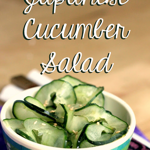 Japanese Cucumber Salad.