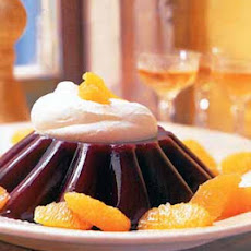 Blood Orange Jelly with Brandied Whipped Cream