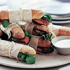 Steak and Onion Sandwiches with Horseradish Mayonnaise