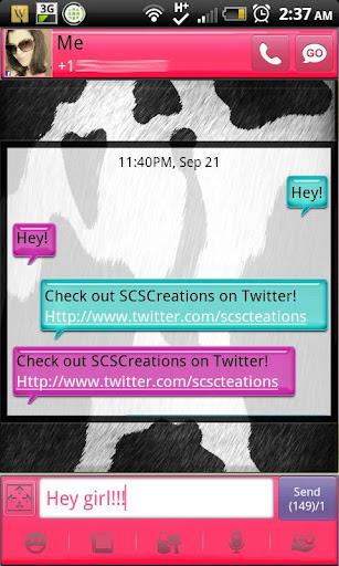 GO SMS - Moo Moo Cow