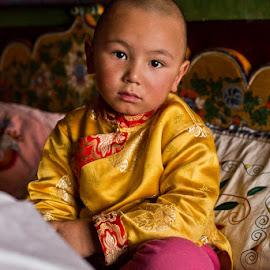 little lama by Alex Ribowski - Babies & Children Child Portraits ( child, monk, monastery, lama, ladakh, , colorful, mood factory, vibrant, happiness, January, moods, emotions, inspiration )