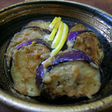 Grilled Eggplant with Spicy Peanut Sauce