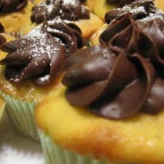 Orange Chocolate Chip Cupcakes with Chocolate Frosting