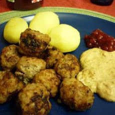 Traditional Swedish meatballs