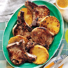 Jerk Pineapple Pork Chops