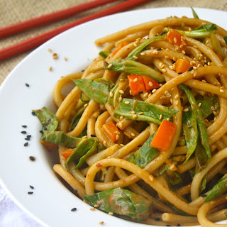 Cold Noodle And Bok Choy Salad With Zesty Sesame Dressing
