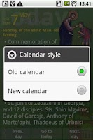 Screenshot of Orthodox Calendar