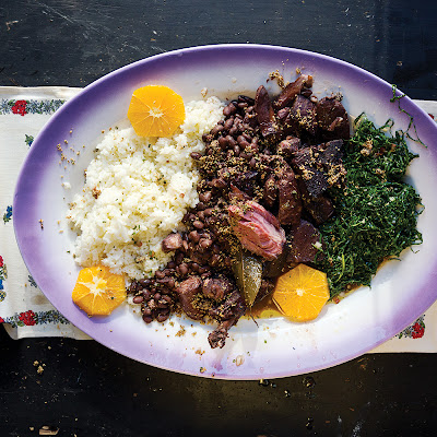 Feijoada (Brazilian Beans with Smoked Pork, Rice and Collards)