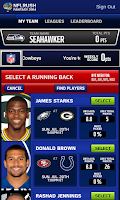 Screenshot of NFLRUSH Fantasy Football