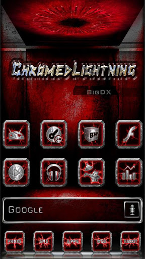Chromed Lightning Multi Red