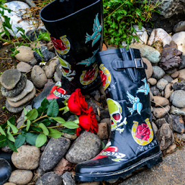 Gardening Boots by Jeanne Knoch - Artistic Objects Clothing & Accessories ( , artistic, object )
