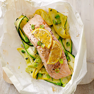 Salmon and Summer Squash en Papillote