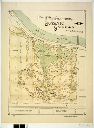 William R Guilfoyle, Plan of the Melbourne Botanic Garden