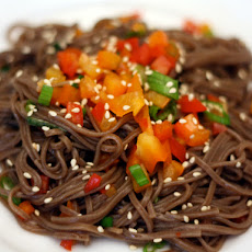 Dinner Tonight: Cold Soba Salad with Peppers and Ponzu Dressing