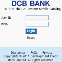 Screenshot of DCB Bank Mobile Banking App