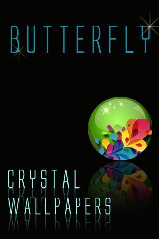 水晶蝴蝶壁紙