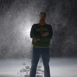 snow flash by Jay Anderson - Landscapes Weather ( flash, cold, night photography, snow, weather, night, storm, flash flood,  )