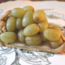 Roasted Green Grape Rosemary Tart