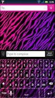 Screenshot of Girly Zebra Keyboard Skin