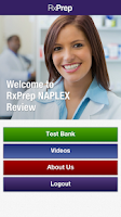 Screenshot of RxPrep's NAPLEX Test App