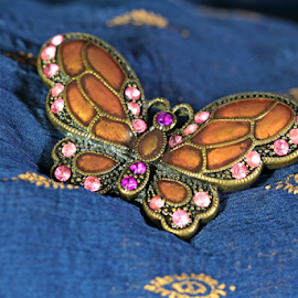 by Dipali S - Artistic Objects Jewelry ( butterfly, broach, artistic, jewelry, fabric, object )
