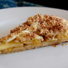Brie & Apple Tart With Medjool Crunch And A Gruyere Crust