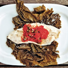 Flounder in Grape Leaves From 'The Catch'