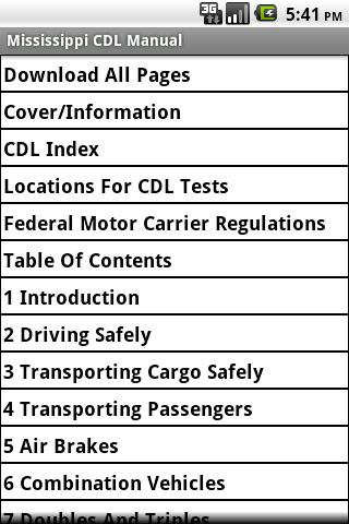 Mississippi CDL Manual