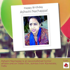 Ashwini Nachappa is an accomplished former athlete and an Indian film, actress from Karnataka, India. by Venugopal Kondeti - Sports & Fitness Running