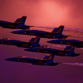 Angels in the Sky by Greg Harcharik - Transportation Airplanes ( blue angels pensacola florida july,  )