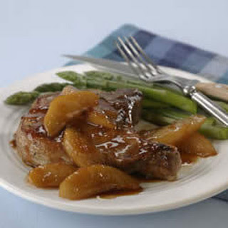 Pan-Seared Chops with Pear and Soy-Ginger Glaze