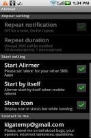 Screenshot of Alirmer Free (SMS/MMS)