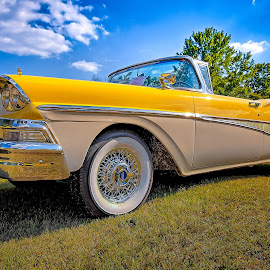 Fairlane Convertible by Ron Meyers - Transportation Automobiles