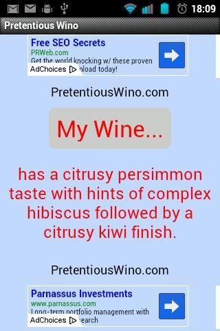 Random Wine Description