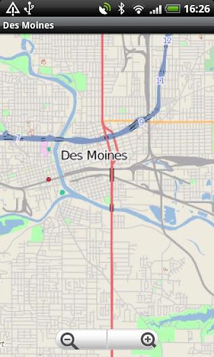 Des Moines Street Map
