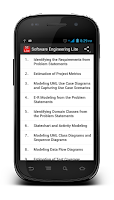Screenshot of Software Engineering Lite