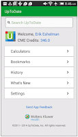 Screenshot of UpToDate for Android
