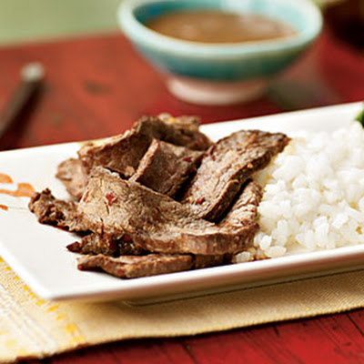 Flank Steak with Hot Peanut Sauce