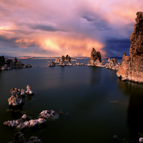 Off World by Dennis Ducilla - Landscapes Waterscapes ( clouds, slow exposure, california, beautiful, lake, storm, mono )