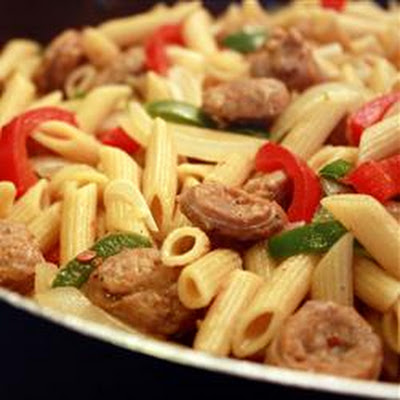 Bow Tie Pasta with Sausage and Sweet Peppers