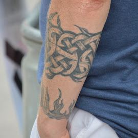 Arm Tat by Thomas Shaw - People Body Art/Tattoos ( blue, tattoos, white, arm, tattoo, raleigh, #oc7, man, north carolina )