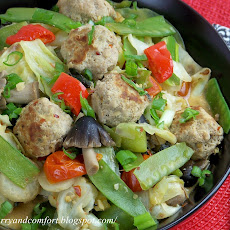 Thai Meatball and Vegetable Stir Fry