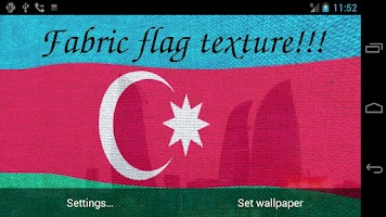 Screenshot of 3D Azerbaijan Flag LWP +