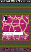 Screenshot of GO SMS - Wild Animal Print