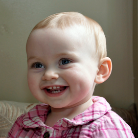 Hadley's Smile by Keith Sutherland - Babies & Children Child Portraits ( baby, smile, teeth )
