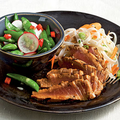 Grilled Lime-Soy Tuna with Noodles