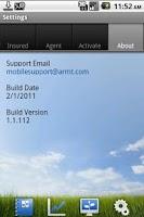 Screenshot of ARMtech Mobile
