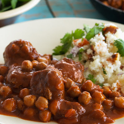 Moroccan Lamb Meatballs with Chickpeas